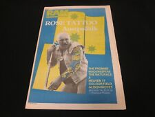 Ram Magazine Nov 23 1984 Rose Tattoo - Superb Condition - RARE!!!!