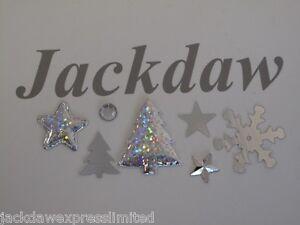 Christmas Embellishment Box Inc Rhinestone, Fabric, Plastic Foil (approx 360pce)