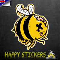 Zombee Zombie Bee Luggage Car Skateboard Laptop Scooter Vinyl Decal Sticker