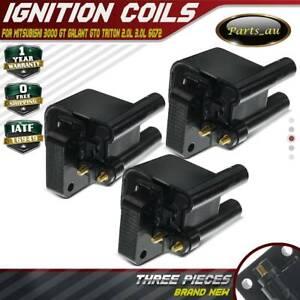 3x Ignition Coils Pack for Mitsubishi 3000 GT Galant GTO Triton 2.0L 3.0L 6G72