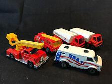 Old Vtg Matchbox Diecast Toy LOT Fire Snorkel Engine Truck USA Van Burham