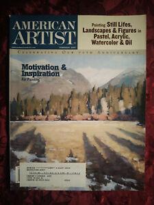 AMERICAN ARTIST Magazine February 2007 Josh Elliot Daniel Graves James Woodside