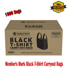 Members Mark Black T Shirt Carryout Bags Pack Comes With 1000 Bags Plastic