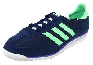 Adidas Womens SL 72 RETRO trainer Navy/White/Green M19226 UK 3.5-7