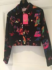BNWT! VERSACE for H&M Floral japan print Jacket US12 FITS M/L.STUNNING! NEW!