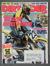 1998 OCTOBER DIRT RIDER MX MOTOX MAGAZINE SX YZ KX CR RM KTM 125 250