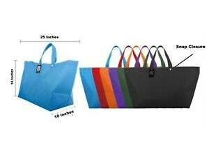 """Extra Large Reusable Grocery Shopping Strong Tote Bags Recycled Eco Friendly 25"""""""