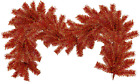 6FT Red and Gold Christmas Brush Garland Shiny Red Tinsel Branch Outdoor Decor