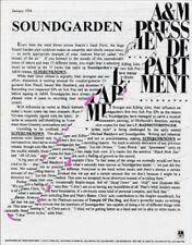 Soundgarden Superunknown US Press Kit 1994