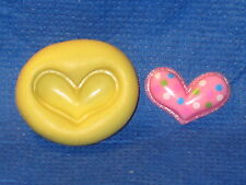 Heart Silicone Push Mold #590 For Resin Clay Candy Chocolate Bookscraping Soap