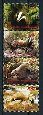 Macedonia 2016 MNH Wild Animals Badgers Otters Weasels Polecats 4v Strip Stamps