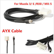 Car 1M AUX In Input Female Jack Interface Adapter Cable For Mazda 3 6 MX-5 RX8