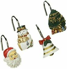 "Carnation Home Fashions ""Christmas Time"" Set of 12 Shower Curtain Hooks"
