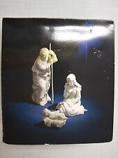 Avon Nativity Collectibles THE HOLY FAMILY White Porcelain Figurine 1981