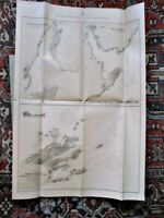 "Vintage MAP of EAST COAST HARBORS of NEWFOUNDLAND,1908,3 Old Survey Maps,43""x29"""