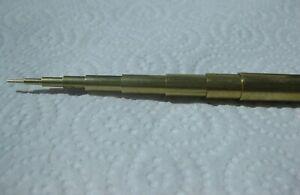 Brass telescoping slide fit tube for modelling, 1-9mm diameter tubes, 330mm long