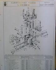 * Carburatori Weber Tipo 28 36 DCD 20  Fiat 1500  Cabriolet pezzi + regolazione