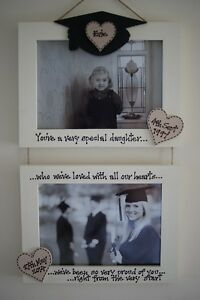 Personalised Photo Frame by Filly Folly! Graduation Gift! 2 frames! 6x4''!