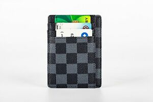 Luxury Checkered Cardholder Wallet