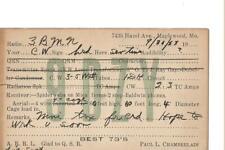 1923 9DZY  Maplewood Mo.. QSL radio card