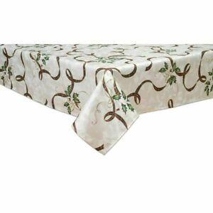 "Lenox Holiday Nouveau Ribbon 60 x 102"" Ribbon Oblong Tablecloth"