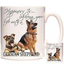 GERMAN SHEPHERD MUG, Matching Coaster Available. Can Be Personalised. Alsatian