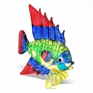 New  Lampwork Aquarium Handicraft Miniature Hand Blown Glass Fish Figurine