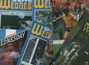 Sheffield Wednesday HOME programmes 1980's 1990's League & Cup