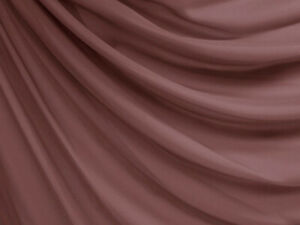 Clear Stock* W053 Mauve Poly *100D Chiffon Mesh Sheer Dress Fabric Material