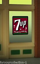 Miller's 7 Up Animated Neon Window Sign O Scale 8945 Miller Engineering