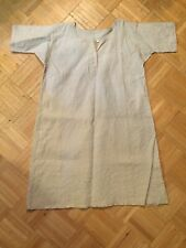 19th Century Heavy Linen Long Work Shirt/ Smock Simple Form For Rural Workers