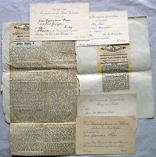 Otto Röse 1853-1925 Breslau / Konvolut 4 Einladungskarten + 2 Artikel Richthofen