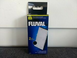 Fluval U2 Fish Turtle Tank Filter Poly / Carbon Cartridge - 2 pk - A490