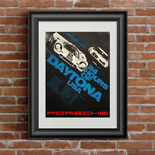 Porsche 917 24 Hours of Daytona sports car racing poster canvas art print
