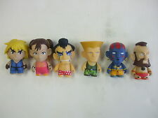 Kid Robot Street Fighter Figure 6pc Lot Loose (Lot1)
