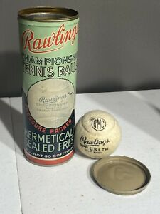 Vintage Rawlings Championship Tennis Ball Can Tin Rare St. Louis Missouri