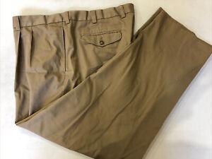 L.L Bean Men's Big and Tall Tan Cotton Casual Pants 43X31 $89
