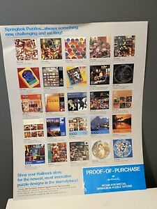Vintage 1986 Springbok Hallmark Jigsaw Puzzle Ad Flyer Guide Proof Of Purchase