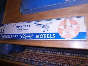 Vintage MODELCRAFT MISS TINY Flight Model Airplane Model Kit