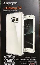Spigen® [Crystal Shell] Extra Shock-Absorb Clear Cover Case for Galaxy S7