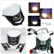 12V 35W H4 Headlight Street Fighter Motorcycle Dirt Bike Ghost Face Headlamp Kit