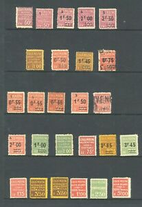 FRANCE ,  COLIS POSTALE , RAILWAY stamps mounted mint. a few fine used