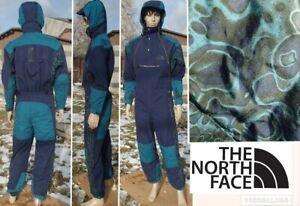 vintage 90's THE NORTH FACE rage 1 piece ski suit tribal print STEEP TECH mens S