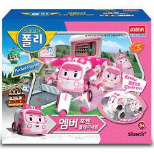 Robocar Poli Pocket Playset Amber Toy Car Storage Cute Character Children Kids