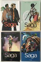 SAGA Volume 1, 3, 4 and 5 TPB Graphic Novel Lot of 4 - Image Comics 2015-2017