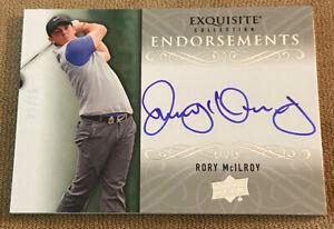 RORY MCILROY Exquisite Endorsements 2013 Upper Deck AUTO Autograph 03/25 RORS!!