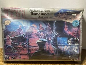 Vintage 1983 Jabba The Hut Throne Room Scene Model Kit By mpc. NIB Sealed