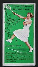 Vintage Tennis Technique  Standing Smash    Original 1930's Card