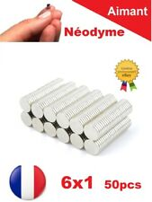 Lot 50 Aimants Puissant Neodyme N35 6 X 1 mm Photo, Magnet, Fimo, Scrapbooking