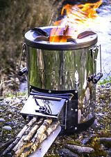 Poêle à Bois Pour Camping tlud Gazogène brûleur de la biomasse silverfire Cuisin...